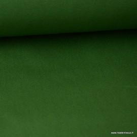 Tissu sergé coton extra lourd VERT 350gr/m²