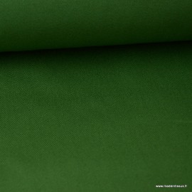 Tissu sergé coton extra lourd VERT 350gr/m² x1m.