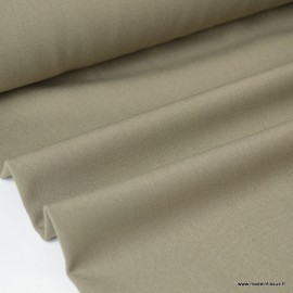 Tissu gabardine bi stretch - Taupe