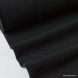 Tissu gabardine bi stretch - Noir