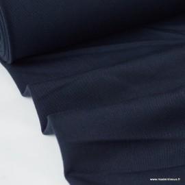 Tissu gabardine bi stretch - Bleu marine