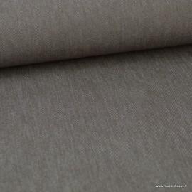 Tissu jean stretch coloris Taupe