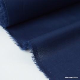 Tissu Voile de coton bleu marine .x1m