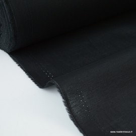 Tissu Voile de coton Noir - oeko tex
