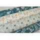Tissu coton imprimé fleurs de Lotus Menthe Myriel. Oeko tex