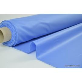 Tissu leger imperméable étanche polyester enduit acrylique myosotis