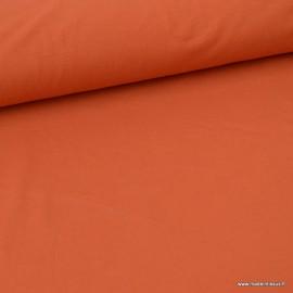 Tissu JERSEY coton élasthanne Terracotta x1m