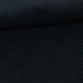 Tissu Velours cotelé grosses côtes Noir