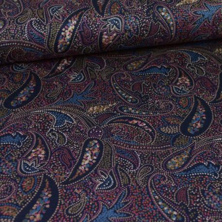 Tissu Jersey motifs Cachemire multicouleurs