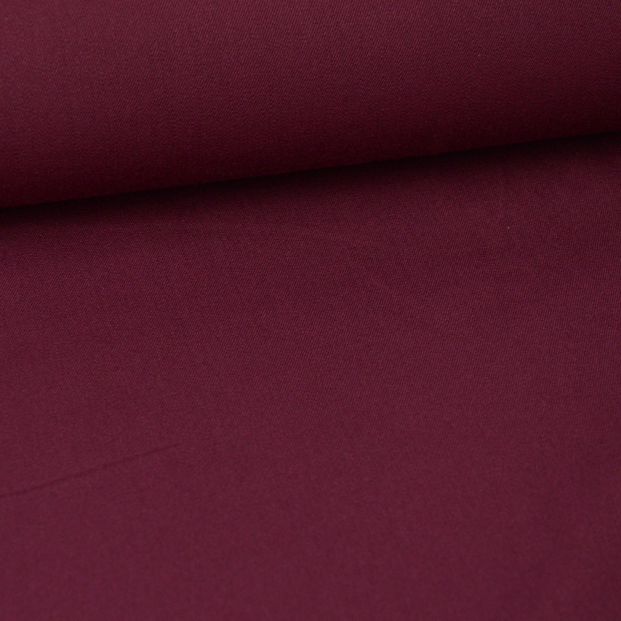 Nappe Lie De Vin tissu gabardine bi stretch au mètre - lie de vin