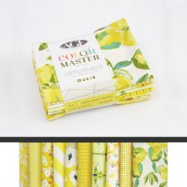 Lot de 10 coupons de tissus en Coton ART GALLERY thème Citron