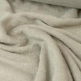 Tissu Eponge de bambou Noisette