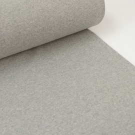 Tissu jersey Bord-cote anthracite gris chiné