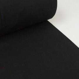 Tissu jersey Bord-côte Tubulaire Noir