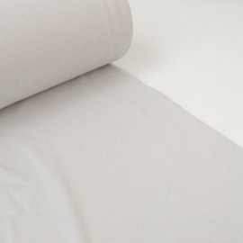 Tissu jersey Bord-côte Tubulaire Gris perle