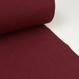 Tissu jersey Bord-côte Tubulaire Bordeaux