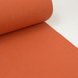 Tissu jersey Bord-côte Tubulaire Terracotta