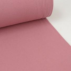 Tissu jersey Bord-côte Tubulaire Vieux Rose