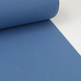Tissu jersey Bord-côte Tubulaire Bleu Jean