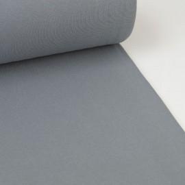 Tissu jersey Bord-côte Tubulaire Gris