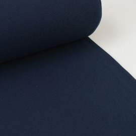 Tissu jersey Bord-côte Tubulaire Bleu marine