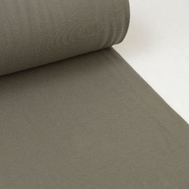 Tissu jersey Bord-côte Tubulaire Taupe
