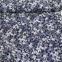 Tissu coton imprimé Kokka imprimé fleurs fond bleu marine Oeko tex .x1m