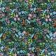 Tissu coton imprimé fleurs fond vert collection Meadow de Rifle paper pour Cotton and Steel .x1m