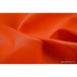 Faux cuirs ameublement rigide orange x 50cm