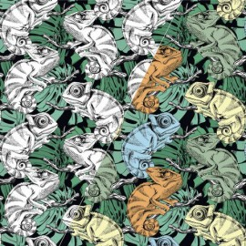 Tissu jersey magique oeko tex photosensible Cameleons
