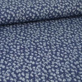 Tissu jean's imprimé fleurs