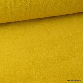 Tissu Eponge 100% coton Jaune Moutarde