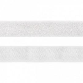 Velcro 20mm male + femelle Blanc