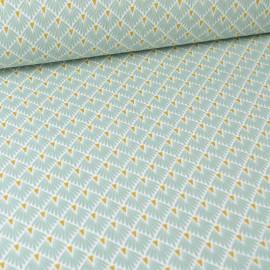 Tissu coton imprimé écailles - Menthe