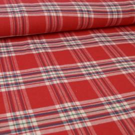 Tissu Flanelle Rouge et bleu à carreaux