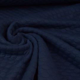 Tissu Jersey matelassé Pois coloris Marine