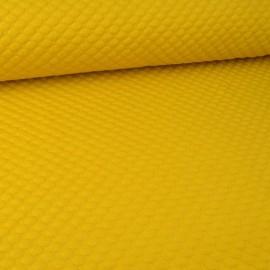 Tissu Jersey matelassé Pois coloris Jaune