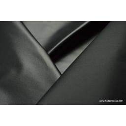 Tissu leger imperméable étanche polyester enduit acrylique noir