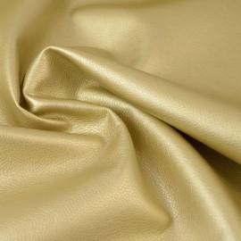 Tissu faux cuir brillant coloris OR