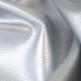 Tissu faux cuir brillant coloris Argent