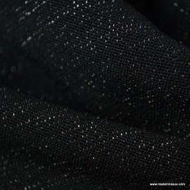 Tissu Jersey milano Noir effet brillant