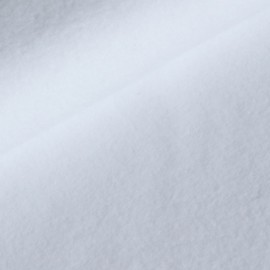 Tissu Polaire BIO coton Blanc (non optique)