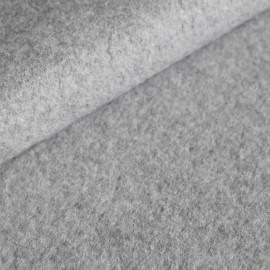 Tissu Polaire BIO coton Gris mélangé