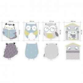 Tissu jersey panneau Owl - Katia Fabrics