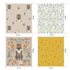 Tissu popeline panneau Fox - Katia Fabrics