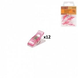 Pinces prodiges x 12 pièces - Rose Fuchsia
