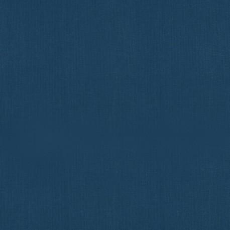 Tissu cretonne coton Bleu Indido .x1m