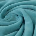 Tissu velours rasé pyjamas nicky Turquoise .x1m