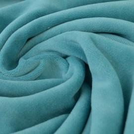 Tissu velours rasé pyjamas nicky Turquoise x50cm