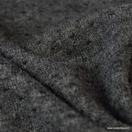 Tissu maille légère ajourée coloris Gris